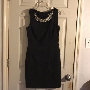 Signature Black dress with pearls